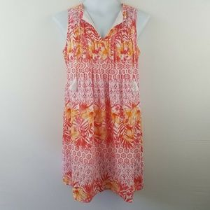 Old Navy Womens Swim Suit Cover Up Pink Orange